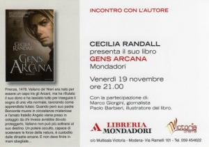 Gens Arcana - Cinema Victoria (Modena)