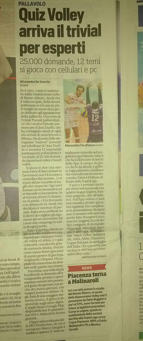 Corriere Dello Sport - QuizVolley